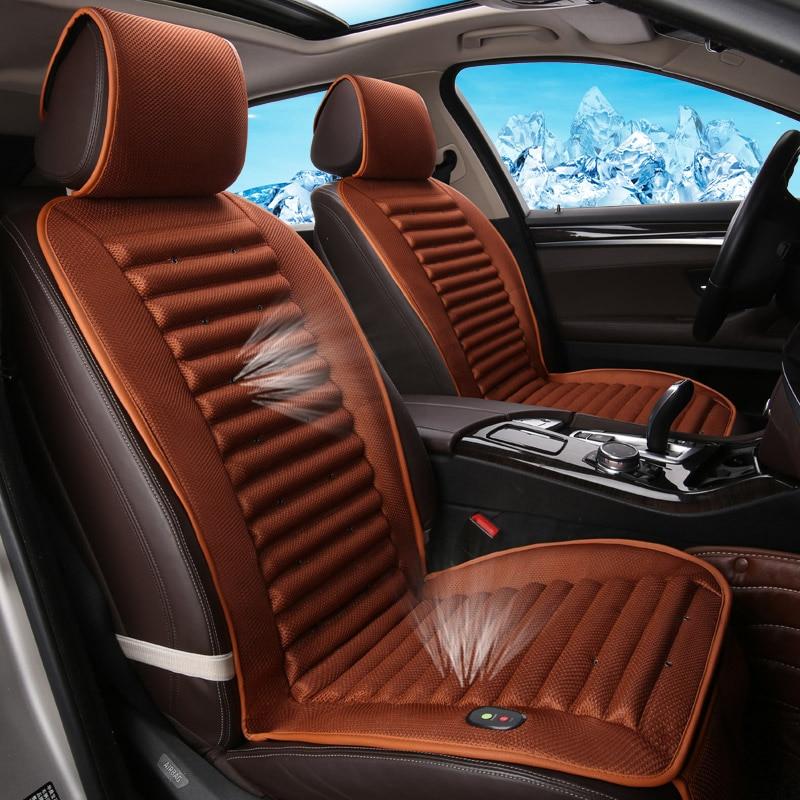 Built-In Fan Cushion Air Circulation Ventilation Car Seat CoverFor Toyota Camry 40 RAV4 Verso FJ Land Cruiser LC 200 Prado 150 1