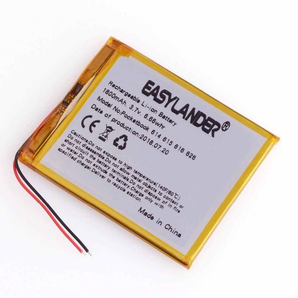 3,7 V 1800mAh batería para Pocketbook 614 básico 2 Touch de bolsillo Lux 2 626 Touch de bolsillo Lux 3 626 M Pl-Digma E628 R657 R659