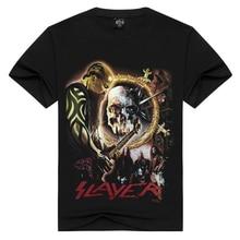 2018 solde solde Slayer band hommes/femmes t-shirt the slayer vitesse Metal t-shirt hommes t-shirt punk vêtements été streetwear