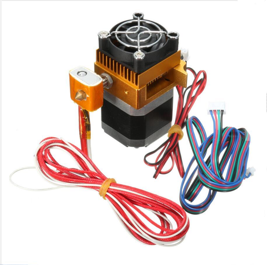 DuoWeiSi 3D Printer Parts MK8 Extruder 0.4mm Full Metal Nozzle Print Head For 3D Printer Prusa i3