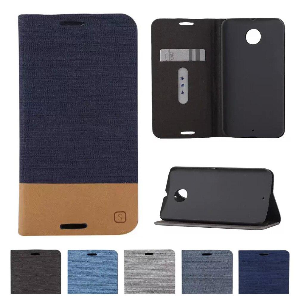 Caso Denim Para Motorola Moto X 2nd Gen X2 X 2 XT1092 XT1093 XT1096 XT1097 X + 1 Casos Aleta capa de Couro de telefone Para Moto X 2014