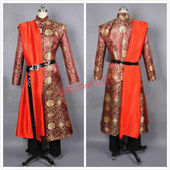 Король принц Джоффри Баратеон COS средневековый мужской костюм для костюмированной вечеринки платье халат на заказ Новый