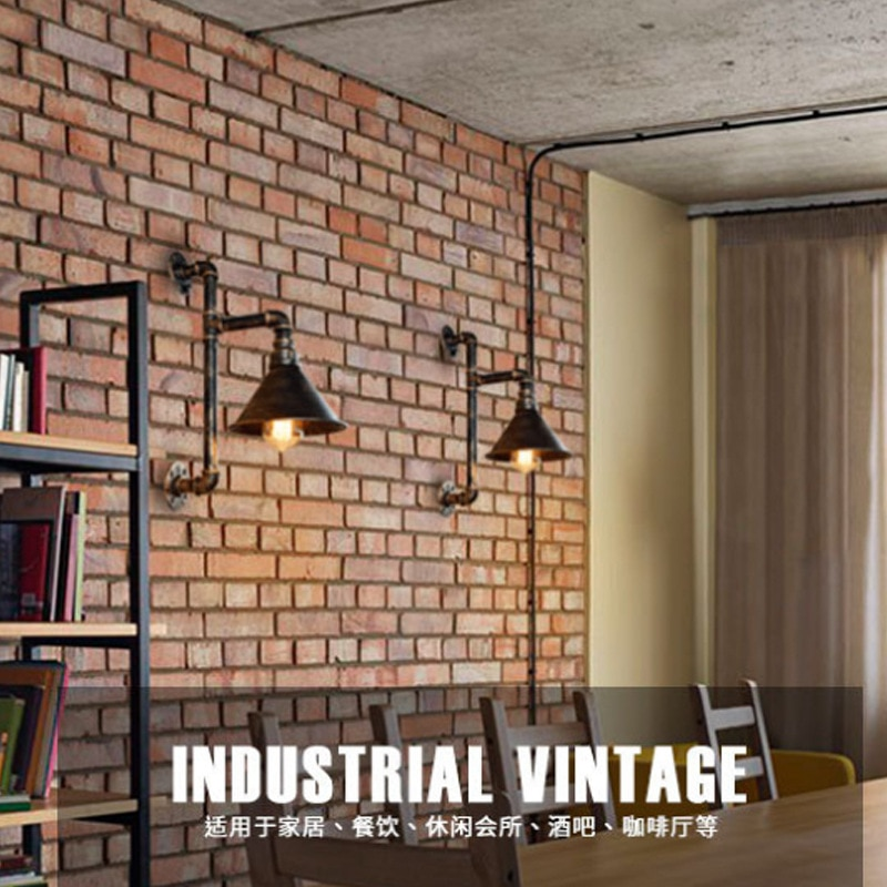 Retro Cafe Industrial Wind water pipe Wall Lamp Aisle Decorative Balcony Lighting American Restaurant Bar Iron E27 Wall Light  - buy with discount