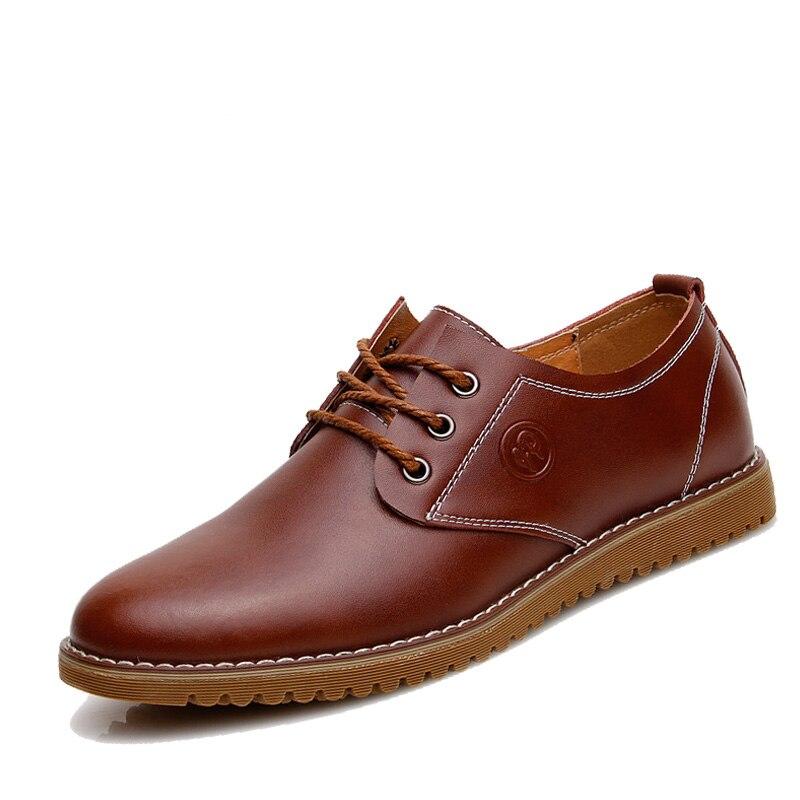 2016 marca de lujo de los hombres mocasines de cuero hombres zapatos Brogues, cordones buey Oxfords para hombres de negocios Zapatos de vestir para hombres tamaño 38-46