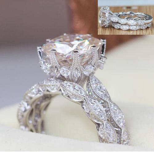 Anillo de boda US size5-10 Victoria Wieck, anillo de compromiso Chapado en plata con relleno de color dorado para mujer