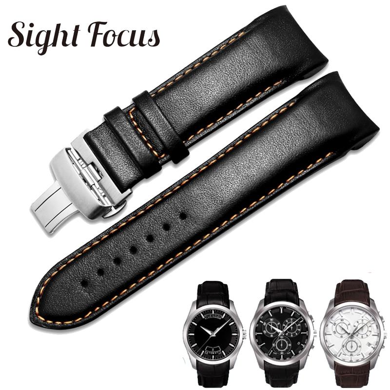 Оригинальный ремешок для часов из телячьей кожи 1853 для часов Tissot T035410A 407A Couturier 22 23 24 мм ремешок для часов браслет