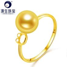 YS 18k Solid Gold 7.5-8mm Original Japanese Akoya Pearl Ring Engagement