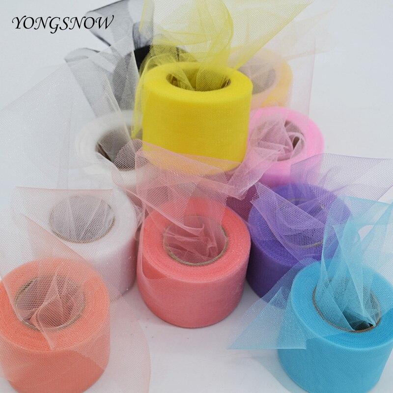 22M colores brillantes tul de cristal rollo Organza gasa pura DIY niñas falda tutú regalo decoración del banquete de boda decoración de ducha de bebé suministro