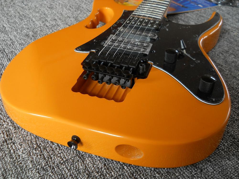 Orange jem life flower inlay Rosewood Fingerboard folyed tremolo electric guitar,customized!IB-1