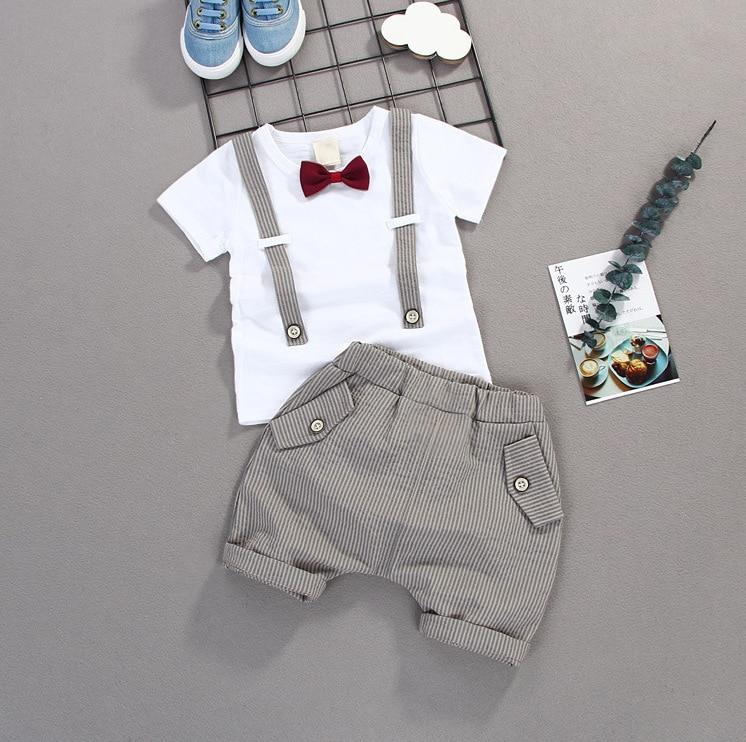 Комплект одежды для маленьких мальчиков; Летний детский костюм; Шорты; Рубашка; От 1 до 4 лет; Детская одежда; Костюмы; Торжественные Свадебны...