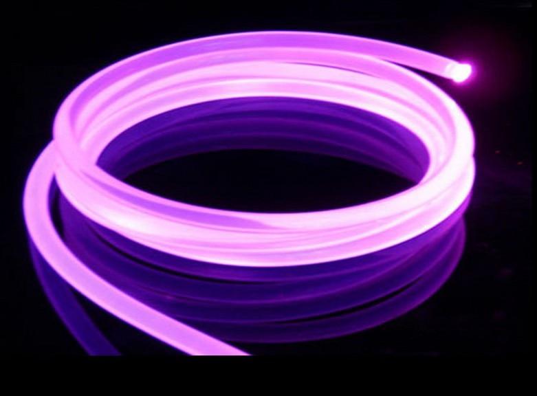50mX lado transparente brillo diámetro 14mm de plástico de PMMA fibra óptica cable sólido núcleo cable óptico express envío gratis