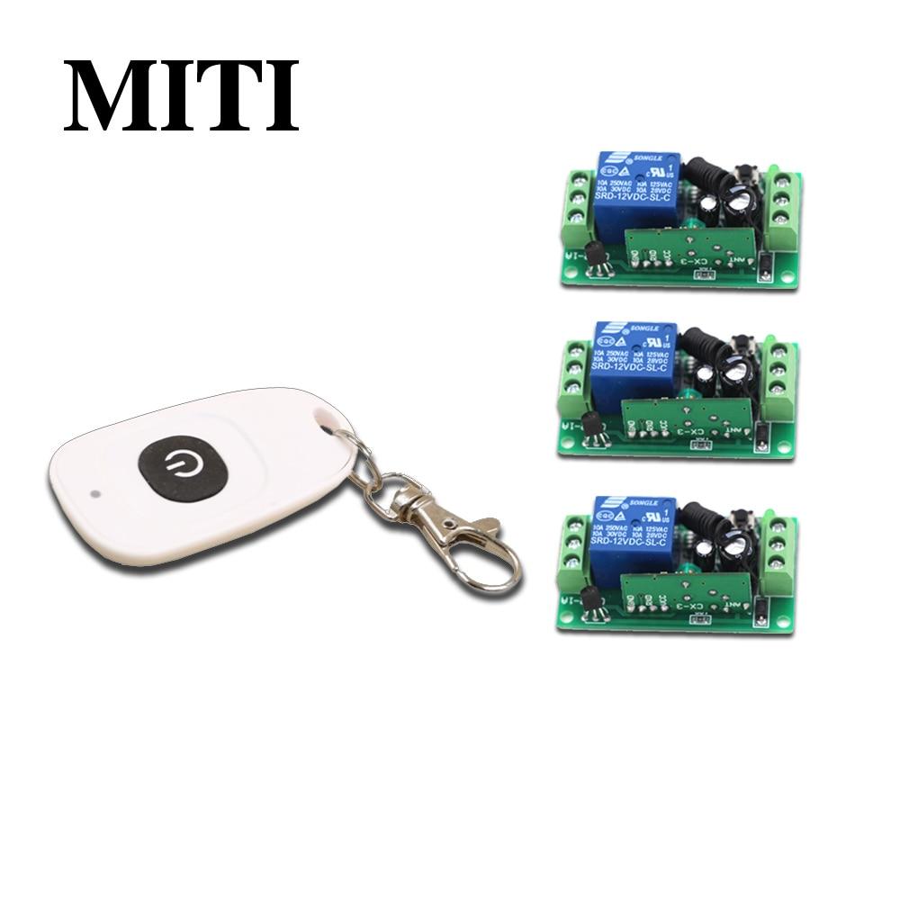 Best PriceDC9V 12V 24V RF Wireless Remote Control Switch 1CH Intelligent Family System 3pcs Receiver+1pcs Transmitter 315/433MHZ