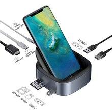 USB Mobile TYPE-C Dock Dex Pad type-c vers USB3.0 HDMI HUB PD charge rapide adaptateur dalimentation damarrage pour les téléphones intelligents HUAWEI Samsung