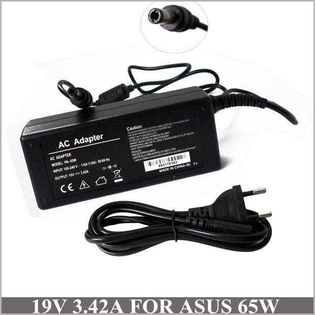Adaptador de CA para ordenador portátil cargador de batería 19 V 3.42A 65 W para Caderno Asus ADP-65JH BB K50i K52F K60IJ P50ij Z99 b50 B50A K501 K50IJ