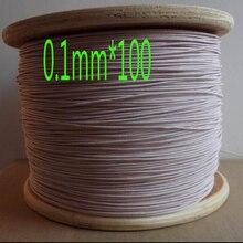 Cltgxdd-fil à brins de 1.3mm   Fil Litz dantenne, fil tressé à plusieurs brins de soie et de polyester, 0,1mmx100