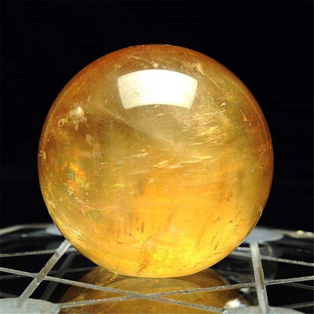 Натуральный ледяной остров камень шар Кальцит Кварцевый кристалл сфера камень хрустальный шар цитрин 4 см домашний декор натуральный камень резной