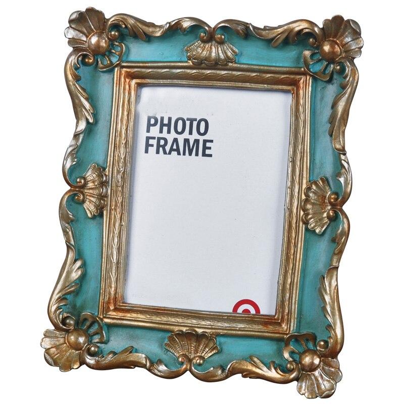 Hermoso estilo rural marco de fotos para el hogar resina marco de cuadro de mesa en Vertical u Horizontal RPF014
