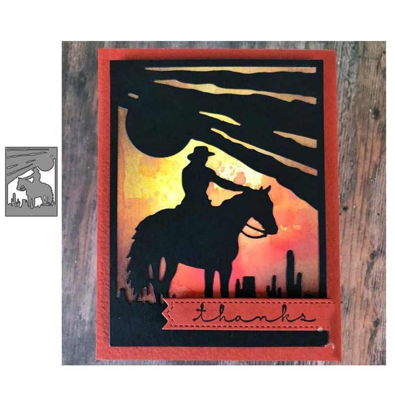 Cowboy NO.2 troqueles de corte de metal Plantilla de corte decoración manualidades de papel de álbum de recortes cuchillo molde de cuchilla perforadora de plantillas