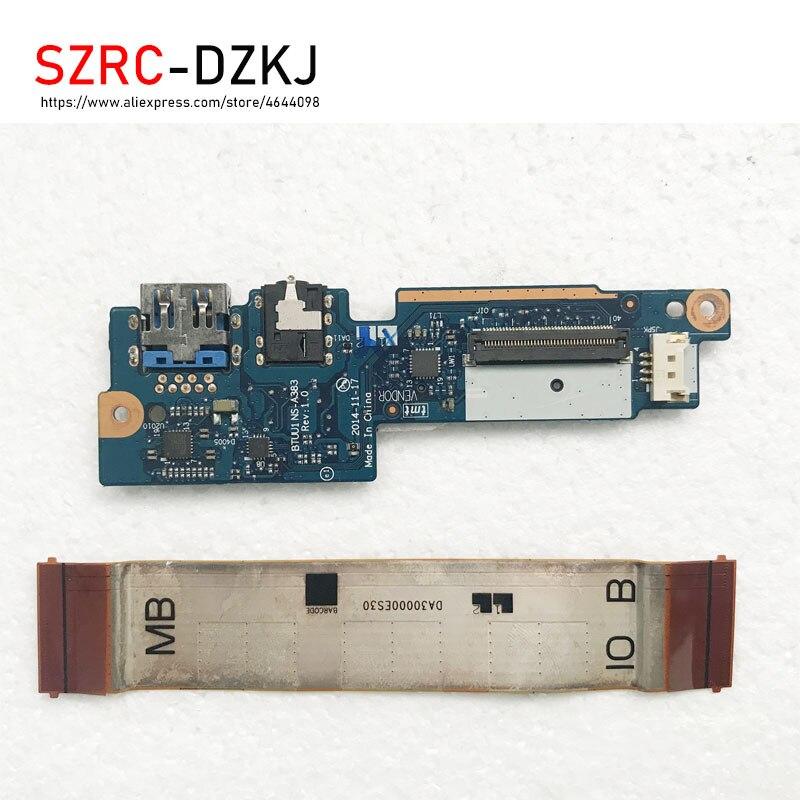 Original para Lenovo Placa de Áudio Leitor de Cartão sd com Cabo Szrcdzkj Btuu1 Ns-a383 Da30000es30 Yoga3 14 1470 Usb