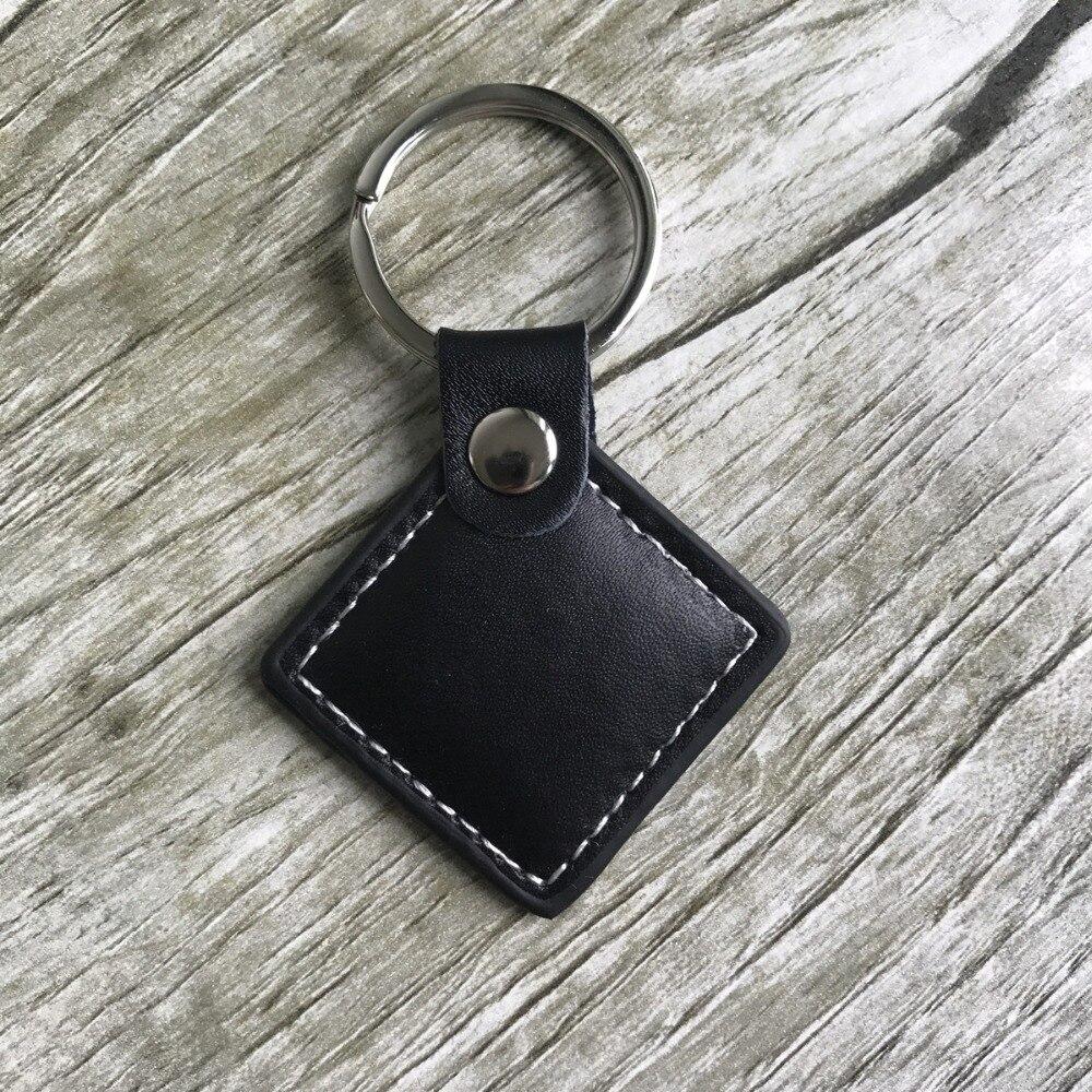 Couro RFID tags TK4100 125 khz Proximidade ID Token Tag Chave keyfobs Compatível para EM4100-10 pcs