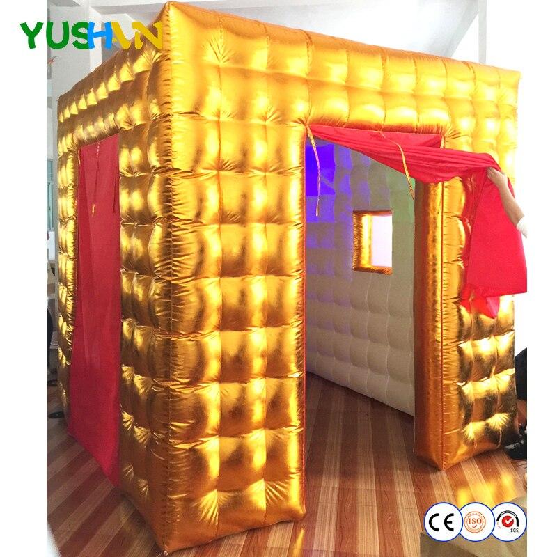 LED bulbos luces inflable de cabina de la foto de Caseta de fotos digital fiesta Fondo cortina roja para boda decoración venta
