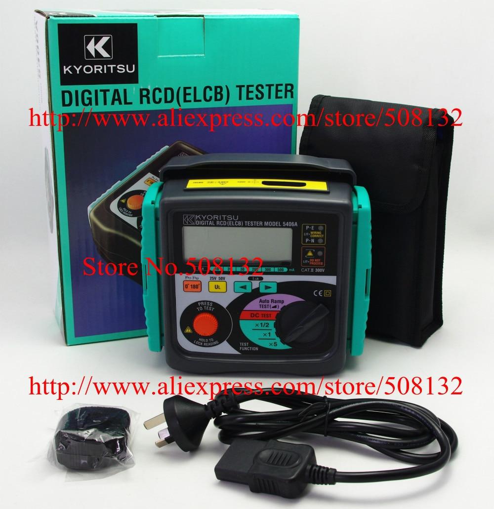 KYORITSU 5406A Digital RCD (ELCB) de 10/20/30/200/300/500mA reemplazar Kyoritsu 5402D