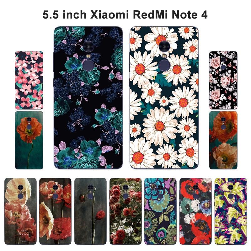 "Para Xiaomi Redmi Note 4 Note4 funda de silicona pintada de lujo para Redmi Note 4 Note4 funda trasera del teléfono Xaomi Mi Note4 5,5"""