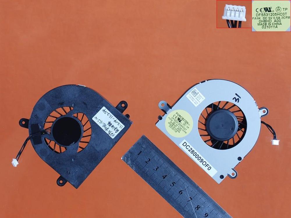 New Laptop Cooling Fan Para DELL PN M14XR1 0H8HD Original DC280009OF0 DFS531205HC0T 0H8HD Cooler Radiator