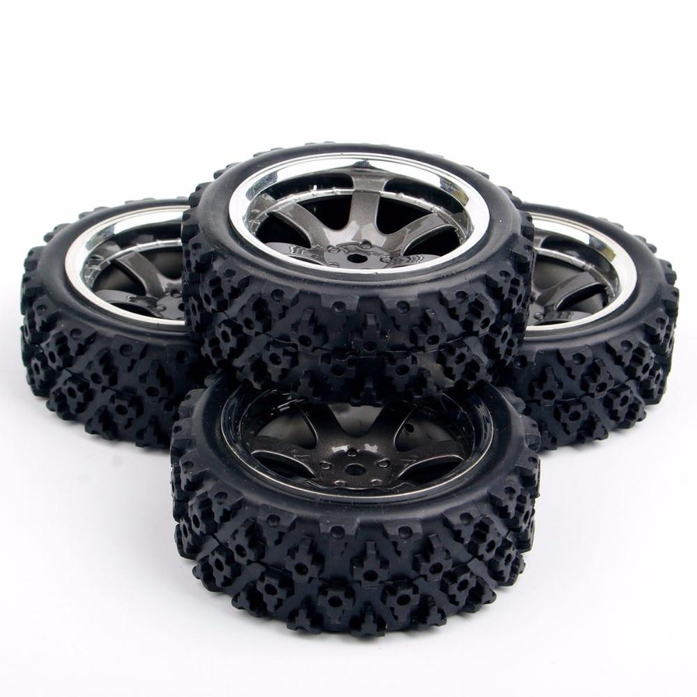 Купить с кэшбэком 4X RC rally tires tyre wheel rim PP0038+PP0487 for HSP RC 1:10 off road racing car RC  parts accessories