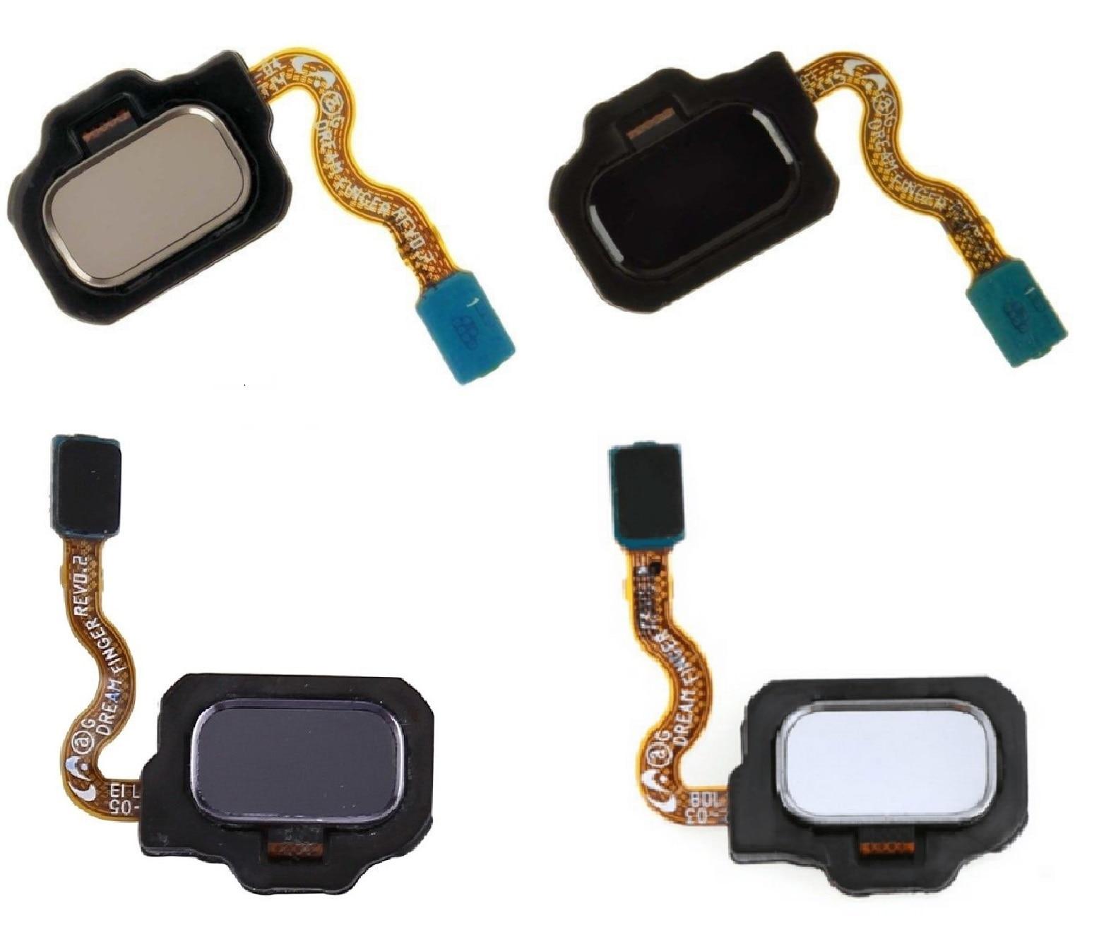 5 قطعة/الوحدة بصمة المنزل زر الكابلات المرنة لسامسونج غالاكسي S8 G950/غالاكسي S8 زائد G955 الفضة أسود أزرق الذهب الأحمر روز الذهب