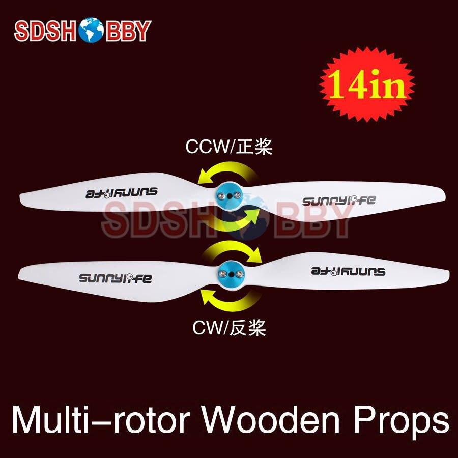 Hélices multirotor Sunnylife 14x4.5in/14 * 4.5in CW & CCW hélices 1445-un par