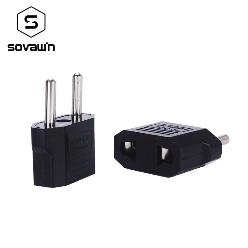 Portátil Universal de Conversão de Viagem Carregador de Parede Plug Adapter UE Converter 2 Pinos AC Tomada De Parede Tomada de Telefone Móvel de Carregamento