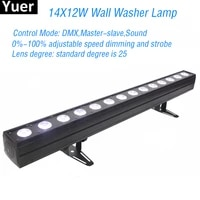 new disco lighting 14x12w rgbwa uv 6in1 led wall wash light dmx led party bar stage effect lights dj music colours lamp