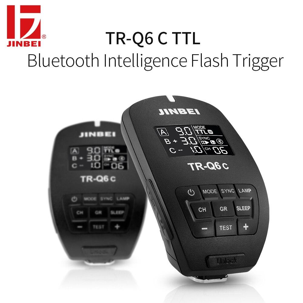 JINBEI TR-Q6 HSS 1/8000s триггер для Canon 2,4G беспроводной Радио Студия Flash TTL передатчик фото освещение пульт дистанционного управления