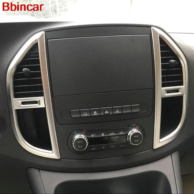 Cubierta de salida de ventilación Bbincar para consola central Interior de ABS mate para mercedes-benz Vito W447 2014-2016 2017