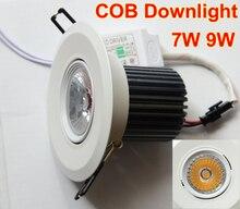 80 Pcs Spot Led 7W 9W 110V 220V Epistar chip 3000K 4000K Downlight recessed led lamp plafond led lights for home