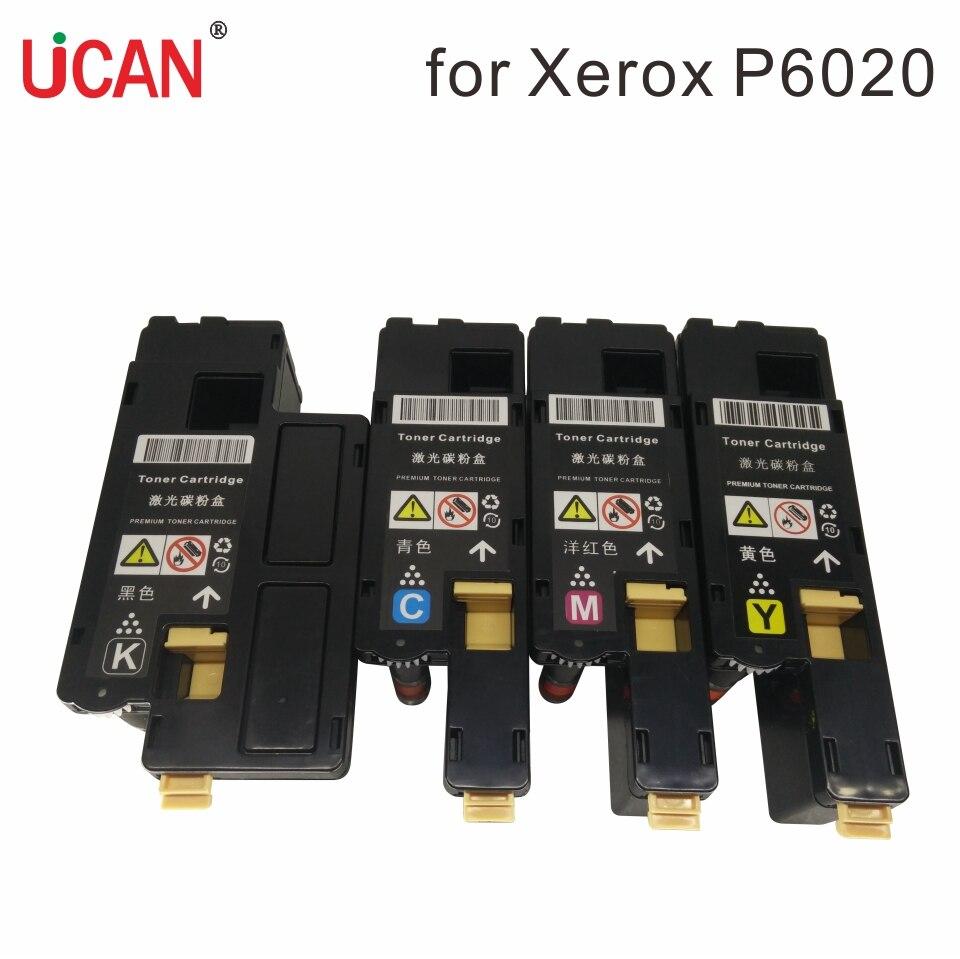Cartuchos de tóner de 4 colores para Fuji Xerox Phaser 6020 6022 WorkCentre 6025 6027 impresora 106R02759/56/57/58 106R02763/60/61/62