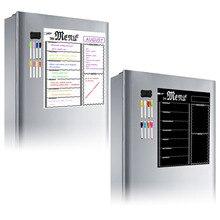 Tableau magnétique de Menu de cuisine   Avec 8 marqueurs de craie de couleur, effaçable à sec, tableau dépicerie pour réfrigérateur