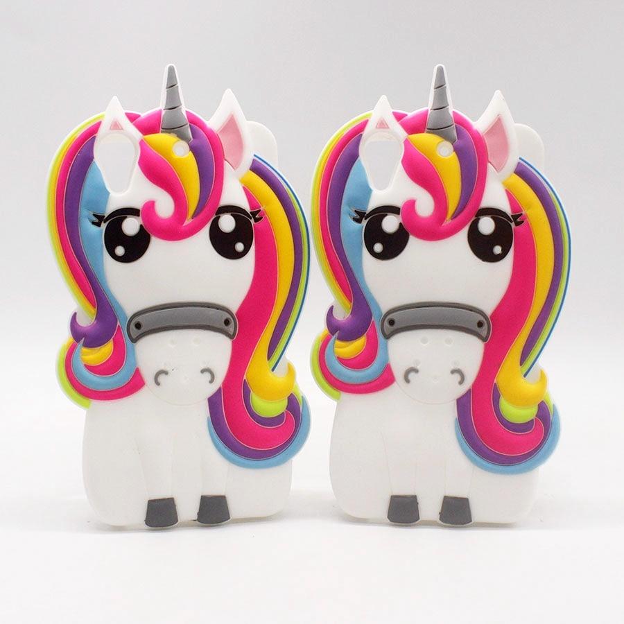 Capa For Sony Xperia M4 Aqua M4 M5 Z5 X XA XA1 Case 3D Pony Unicorn Coque For HTC 626 Cover Soft Silicone Fundas Phone Cases