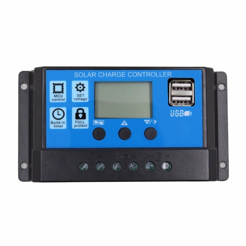 12v24v 10 20 30a dual usb solar battery painel regulador controlador de carga lcd