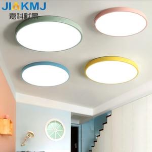 Nordic ultra-thin ceiling lamp modern bedroom balcony lamp macaron creative living room lamp children's study led lamps