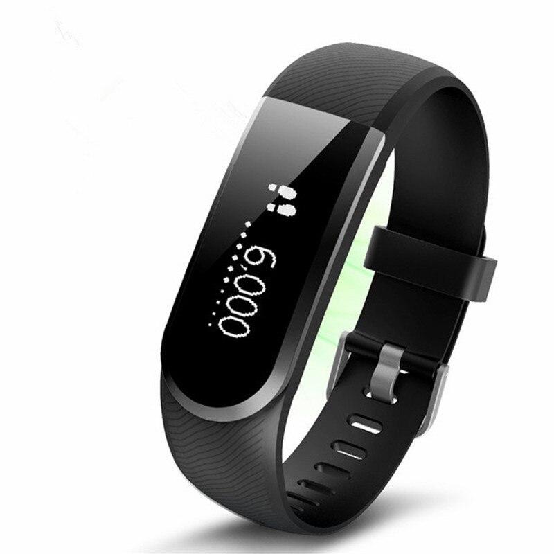 Pulsera inteligente con podómetro Monitor de frecuencia cardíaca Bluetooth Bracelt, pulsera inteligente con mensaje de llamada para IOS/Android