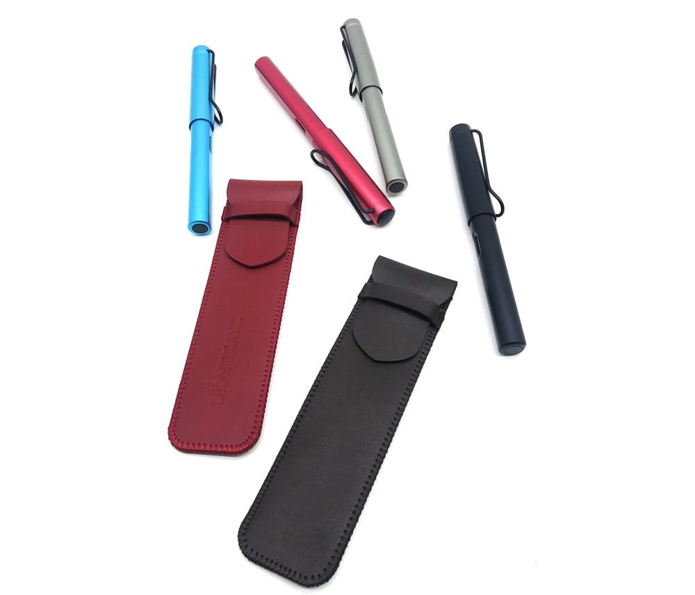 fountain pen leather case kit  pen pencil storage bag fountain pen kit case customizable bag only color random no pen
