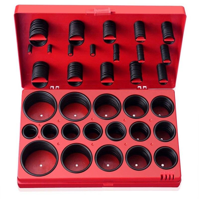 Kit surtido de sellos de arandela métrica de anillo redondo Universal de 419 Uds para Mecánica Automotriz junta de silicona de goma