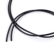 Doreen Box Lovely Rubber Cord Black Hollow 2.5mm,Hole:1 mm,10M Length (B22223)