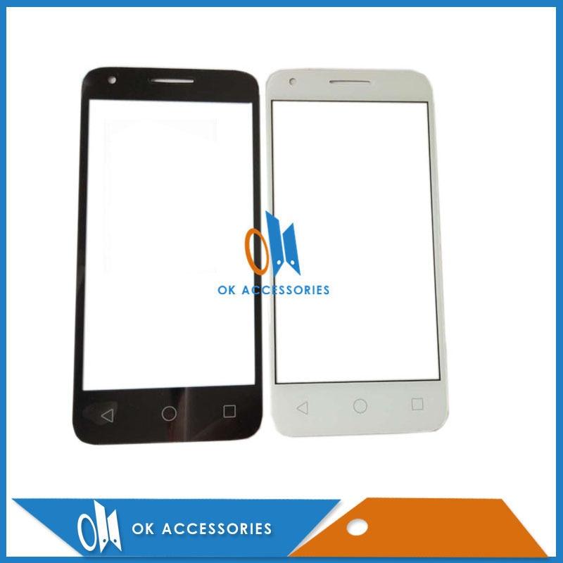 שחור לבן לאלקטל One Touch OT 5019 5019A 5019X 5019D OT5019 OT5019D קדמי חיצוני זכוכית עדשת תיקון 1 יח'חבילה