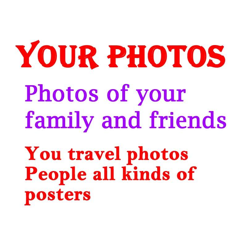 "Personaliza tus fotos favoritas personas paisaje animales todas las imágenes póster telas personalizadas (24 ""-100"") x 24"""