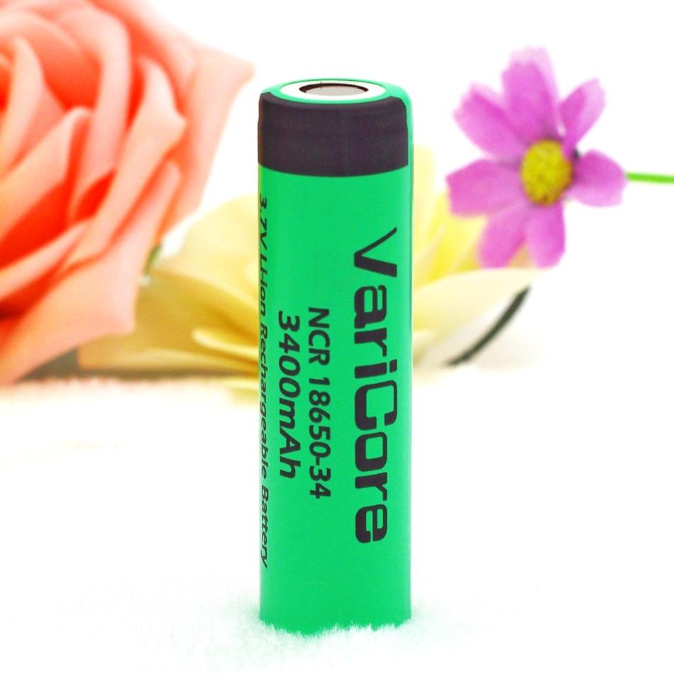 1 pcs VariCore NCR18650-34 18650 bateria 3.7 v 3400 mah bateria recarregável 18650