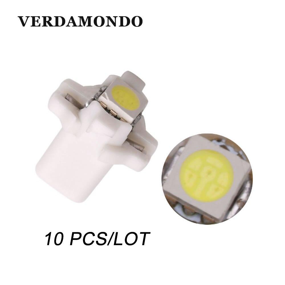 10 Uds. B8.3 B8.3D 1 LED SMD 5050 T5, tablero del coche, bombilla de luz de cuña con indicador de calentamiento, lámpara automática, luces 12V DC