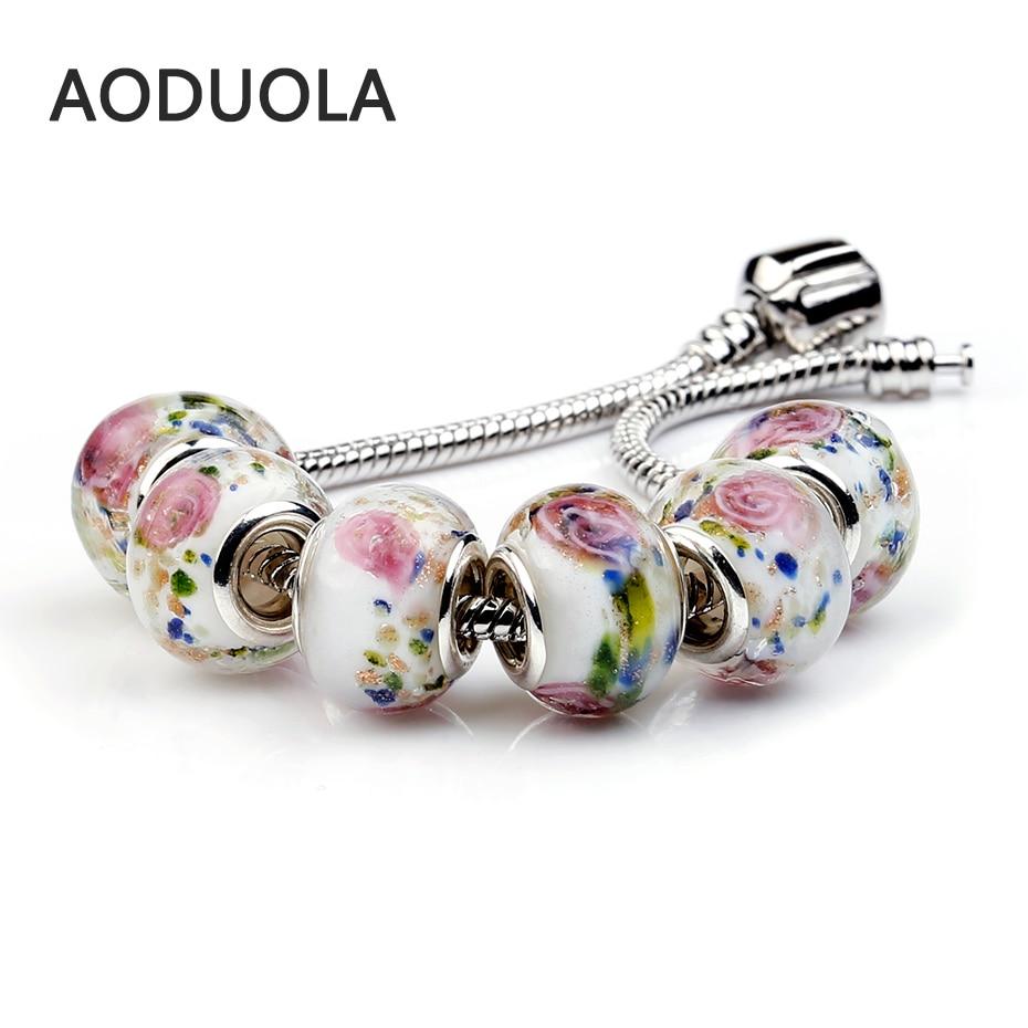 10P Lampwork Glass Beads European Murano Troll Chunky Czech Bead Charm Fit For Pandora Charms Bracelet DIY making accessories